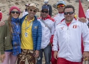 Florencia Gomez Gerbi, ISA President Fernando Aguerre and Team Peru. Credit: ISA/ Michael Tweddle