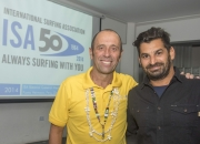 ISA President Fernando Aguerre and Yossy Zamir, President of Israel Surfing Association. Credit: ISA/ Michael Tweddle