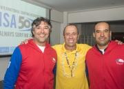 ISA President Fernando Aguerre,  Agustin Echeverria and Diego Medina from Team Chile.