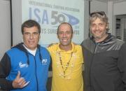 ISA President Fernando Aguerre with Cristian Petersen and Freddy Tortora. Photo: ISA/Michael Tweddle