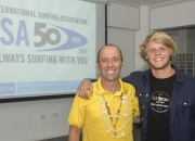 ISA President Fernando Aguerre with the newly elected ISA Vice President Casper Steinfath. Photo: ISA/Michael Tweddle