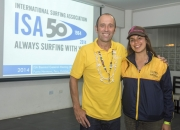 ISA President Fernando Aguerre and Lena Lizarazo from Colombia. Credit: ISA/ Michael Tweddle