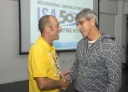 ISA President Fernando Aguerre and Antonio Sotillo, President of the Venezuelan Surfing Federation. Credit: ISA/ Michael Tweddle