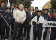 Team Japan, ISA President Fernando Aguerre and Eduardo Arenas. Credit: ISA/Michael Tweddle