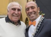 1st ISA President Eduardo Arena and Former ISA President Fernando Aguerre. Credit: ISA/Michael Tweddle