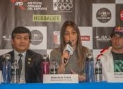 Representative of Claro Gabriela Cuba and Cristobal De Col from Peru. Credit: ISA/ Rommel Gonzales