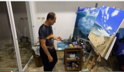 Making of the painting in the event poster
